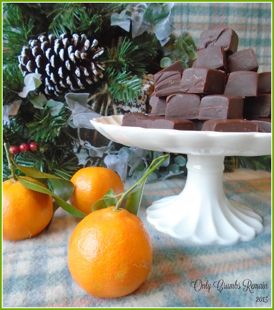 Chocolate Orange Fudge made in a microwave
