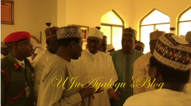 WATCH VIDEO: Buhari appears in public for the first time in two weeks