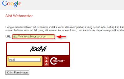 Cara submit blog di google webmaster tool