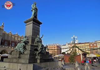 Plaza del Mercado de Cracovia en Navidad