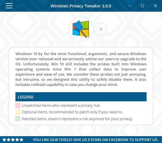 تحميل برنامج حماية الخصوصية للكمبيوتر Windows Privacy Tweaker