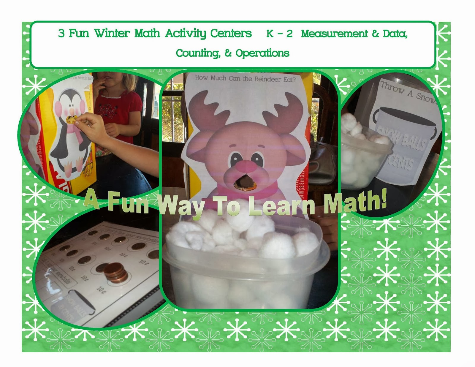 The Traveling Classroom Winter Math Activities For Prek