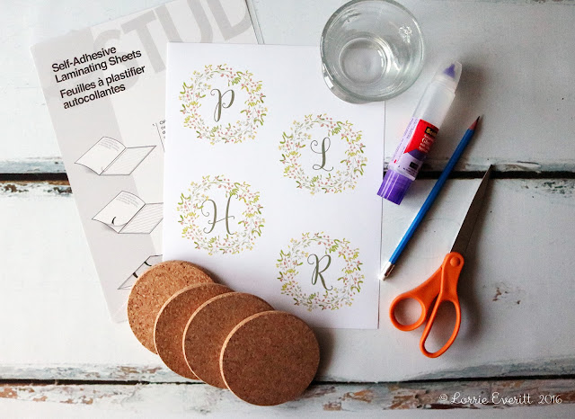 diy cork coasters | Lorrie Everitt Studio