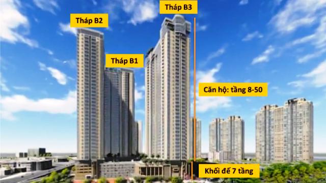 Tháp căn hộ Sunwah Pearl Thủ Thiêm đường Nguyễn Hữu Cảnh Bình Thạnh HCM