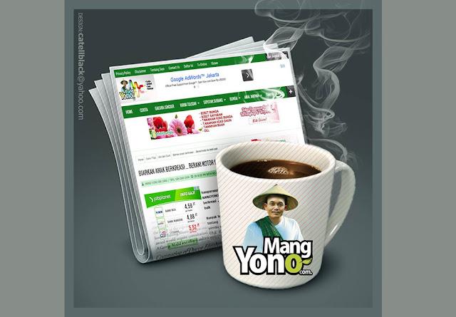 Ngeblog sambil menikmati secangkir kopi. Desain karya catellblacek