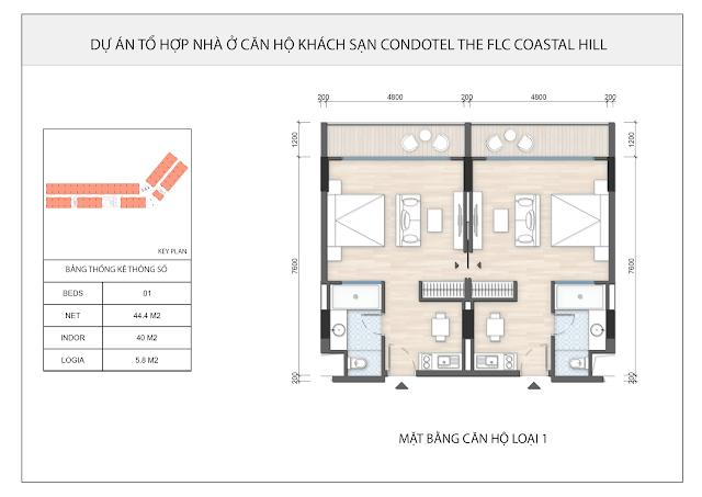 Thiết kế căn hộ điển hình FLC THE COASTAL HILL