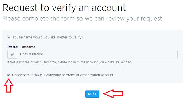 طريقة توثيق حساب تويتر و الحصول على العلامة الزرقاء