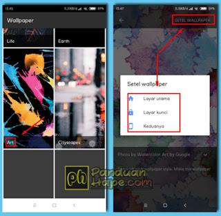 merapkan live wallpaper di Android