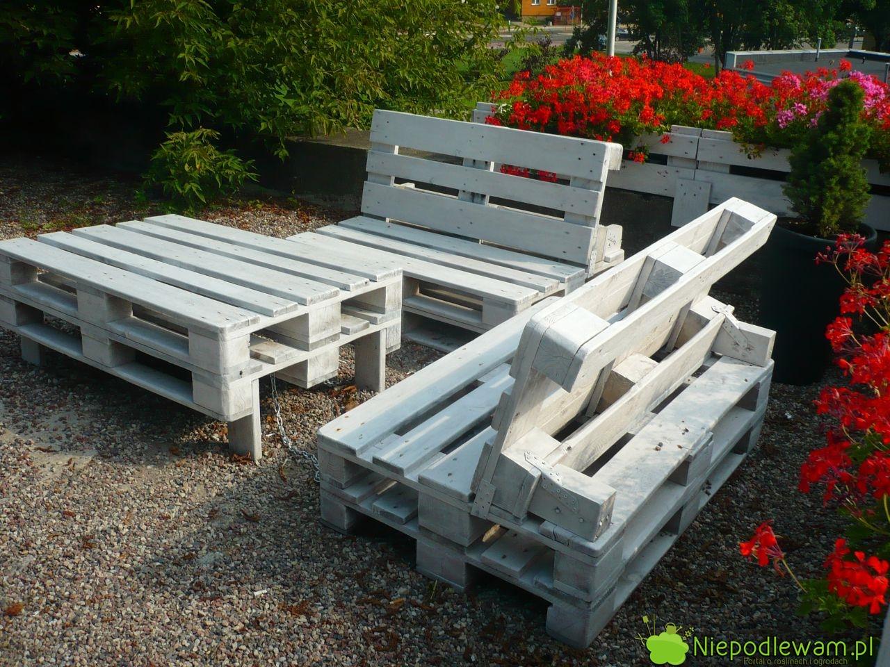 Meble Ogrodowe Z Europalet Allegro : niepodlewam Europalety – pomysł na meble ogrodowe i furtkę