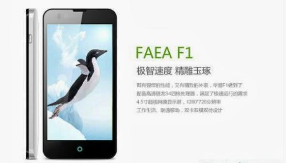 Faea F1, Smartphone Android Quad Core