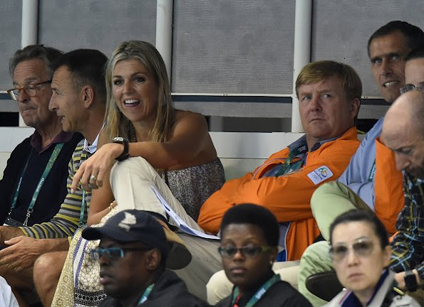 Queen Maxima and King Willem-Alexander attend the Medley Relay Final of the Rio 2016 Summer Olympic Games