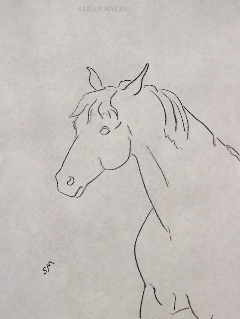 Drawing of a Horse - Art by Sarah Myers