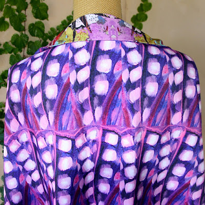 "Artful Apparel,Designer Fabric,""Violetta Fabric by the Yard"" by Santa Fe Artist and Designer Melanie Birk"