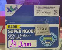 Kartu Perdana data XL 17GB 24jam 3G&4G