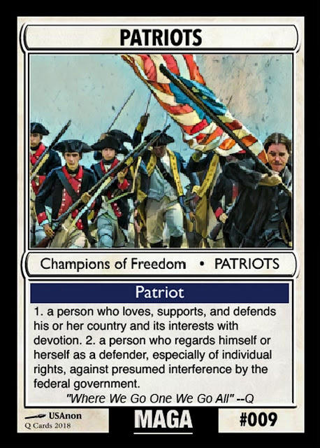 Collectable Q Anon Card Deck -- For the Avid Freedom Fighter! 09%2BPatriots