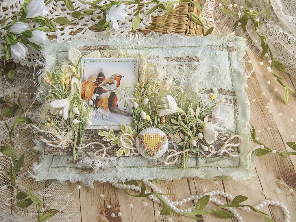Snowdrops, postcard with snowdrops, spring card, открытка с подснежниками, подснежники крючком, цветы вязаные крючком, підсніжники, листівка з підсніжниками, весняна листівка