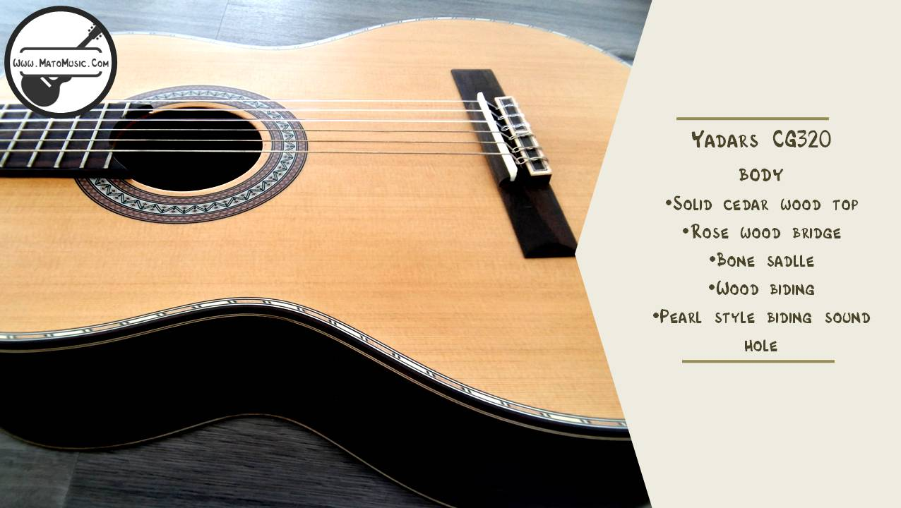Yadars CG320 Classical Guitar With Solid Cedar Top Specification 04