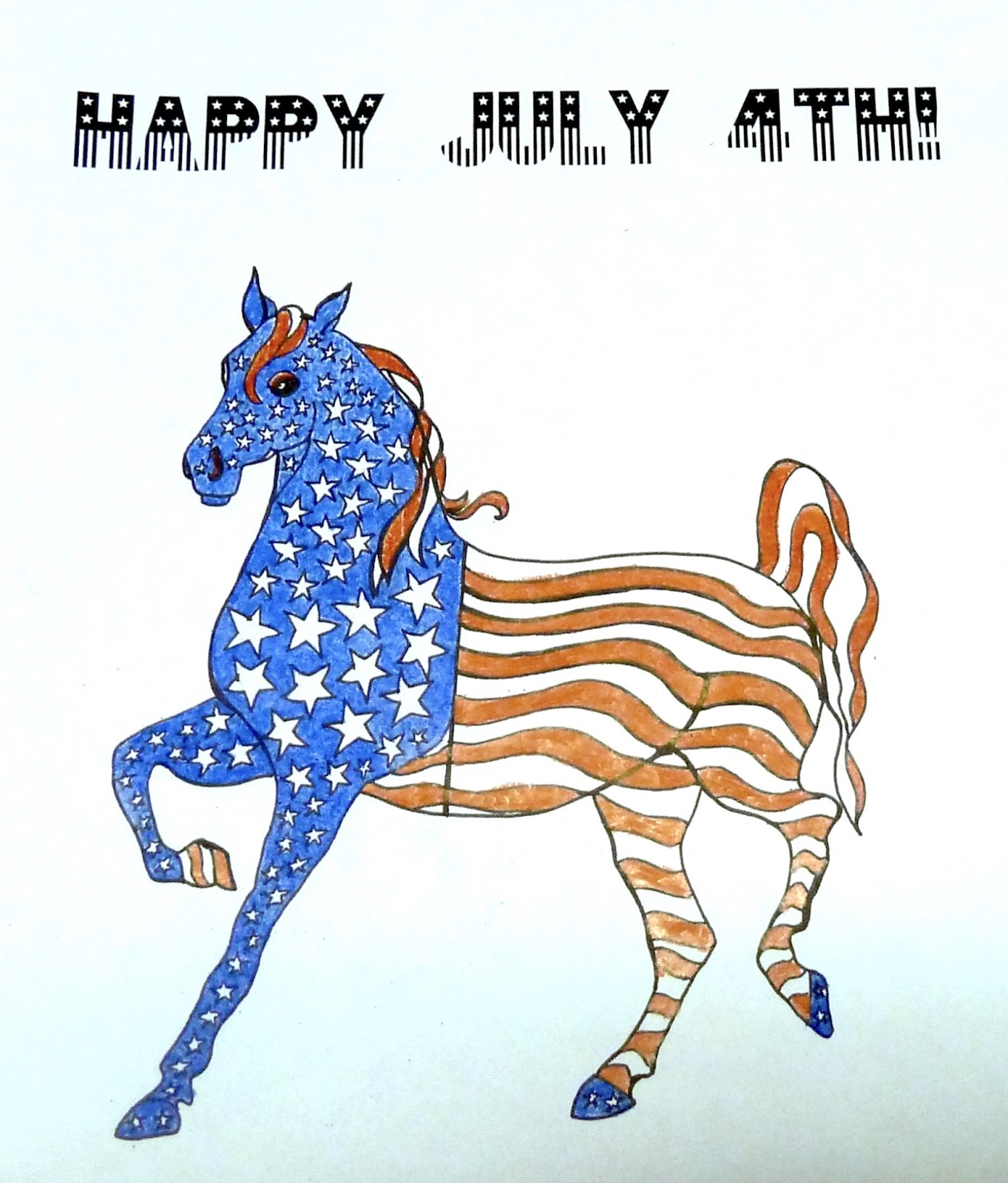 make it easy crafts patriotic horse coloring page