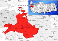 Marmara ilçesinin nerede olduğunu gösteren harita