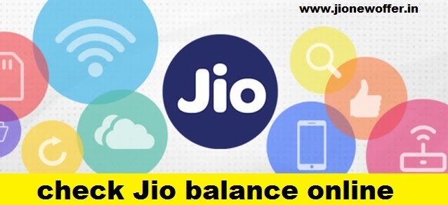 How to check Jio balance online
