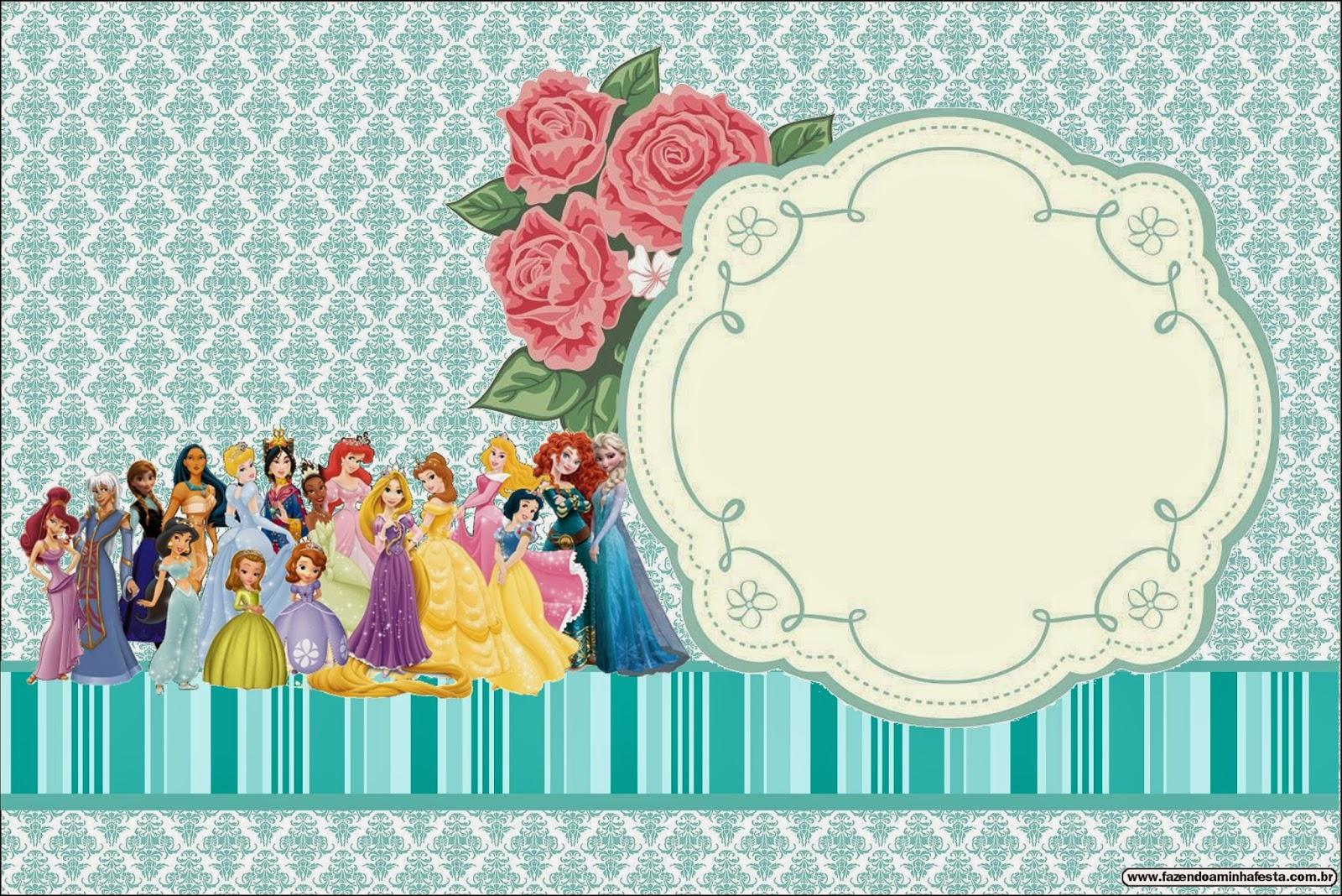 All Disney Princess Free Printable Invitations Oh My Fiesta in