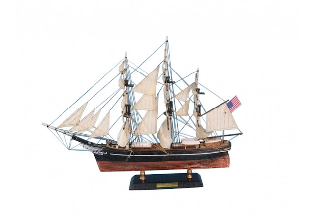 Flying Cloud Wooden Clipper Model Ship