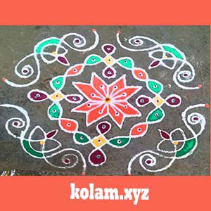 simple kolam designs with dots for beginners