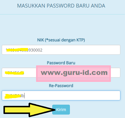 gambar cara ubah password akun login sscn bkn go id