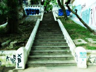 Primeiro Lance de Degraus da Escadaria da Rua João Manoel, Porto Alegre