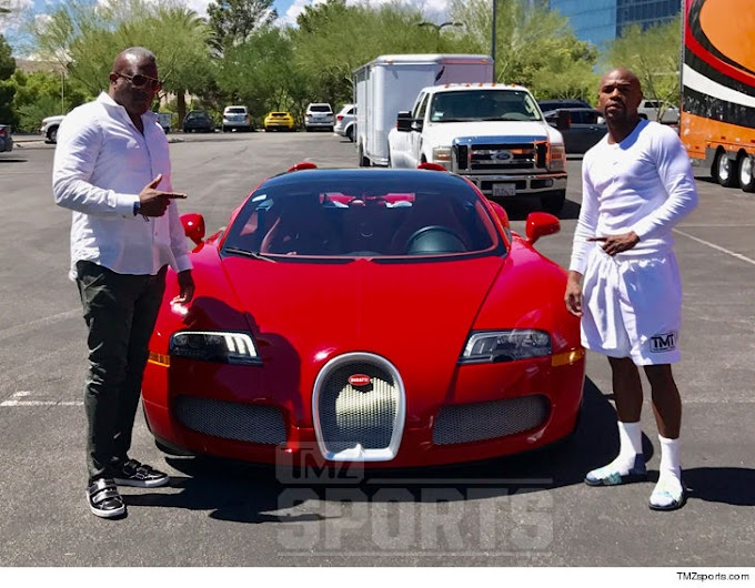 Floyd Mayweather spends over 3million on a new Bugatti Grand Sport Convertible ahead of his fight