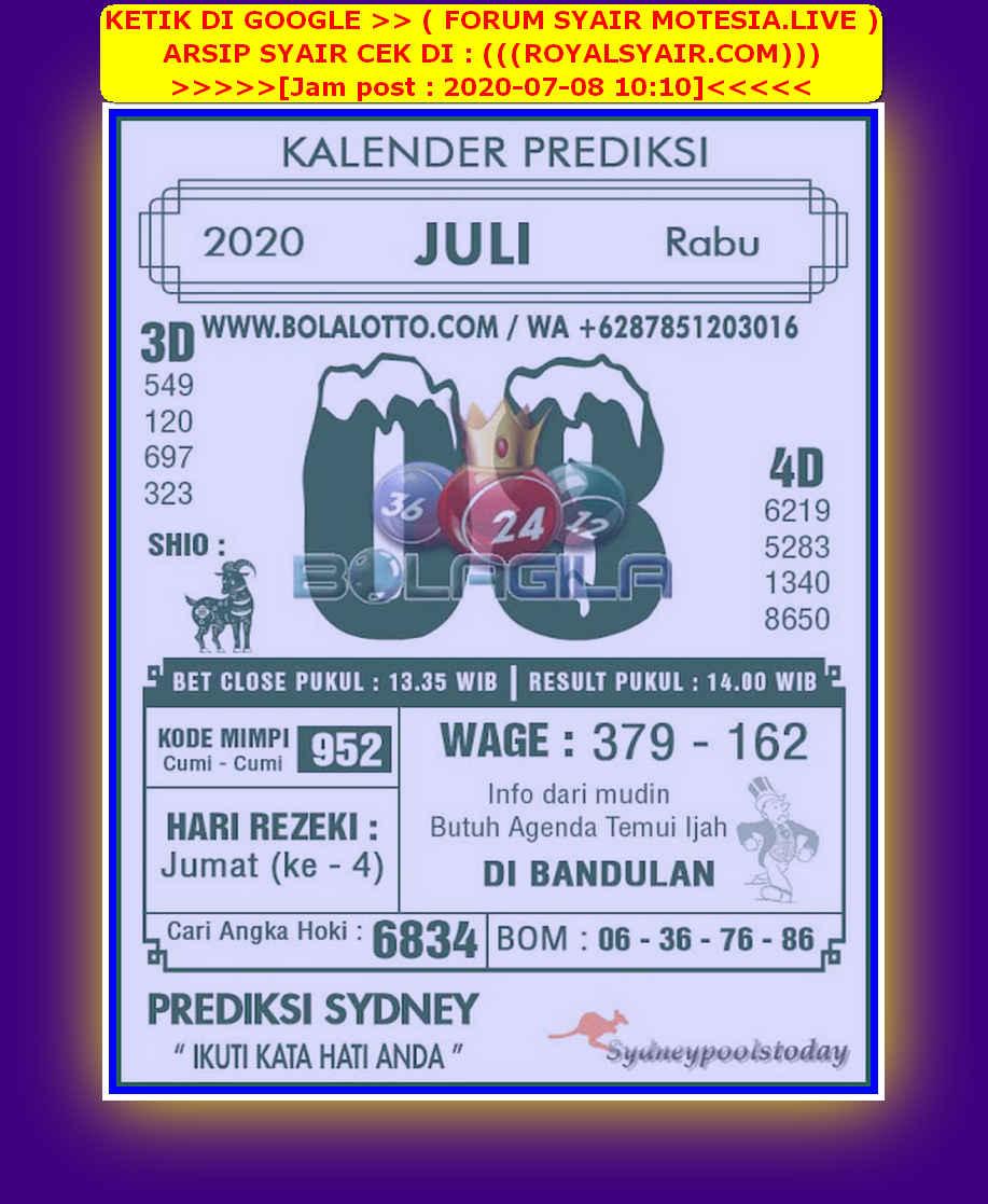 Kode syair Sydney Rabu 8 Juli 2020 141