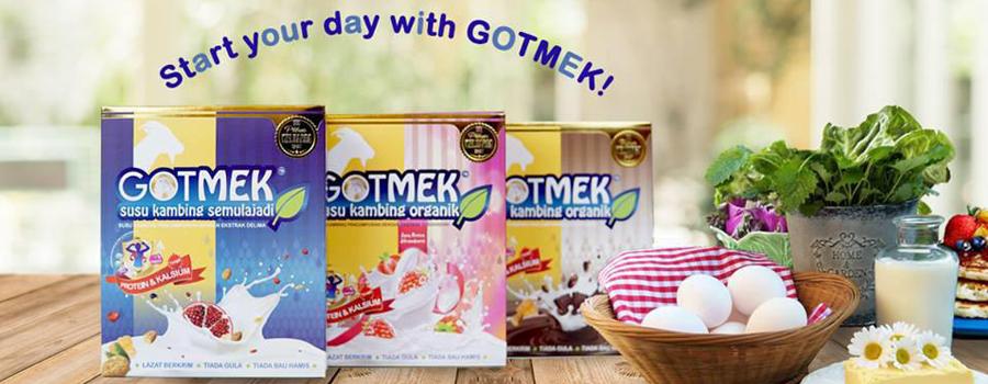 gotmek susu kambing, susu kambing organik, tanpa kandungan gula, susu kambing super sedap, original, strawberi, coklat, gotmek,