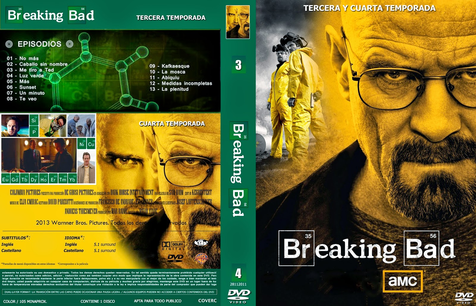 Pretty Cuarta Temporada Breaking Bad Pictures >> Covercaratulas De ...