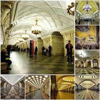 الفن المعماري الأكثر من مذهل في محطات مترو موسكو
