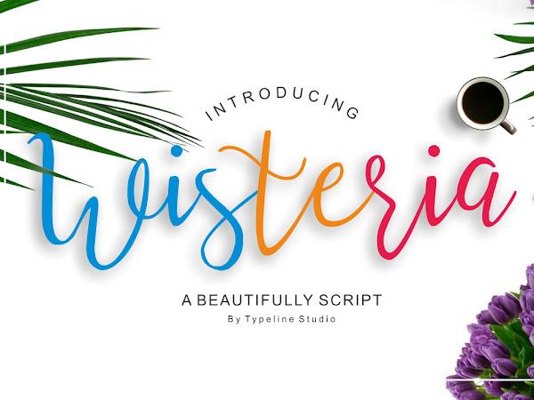 Download Wisteria Free Handwritten Script Font
