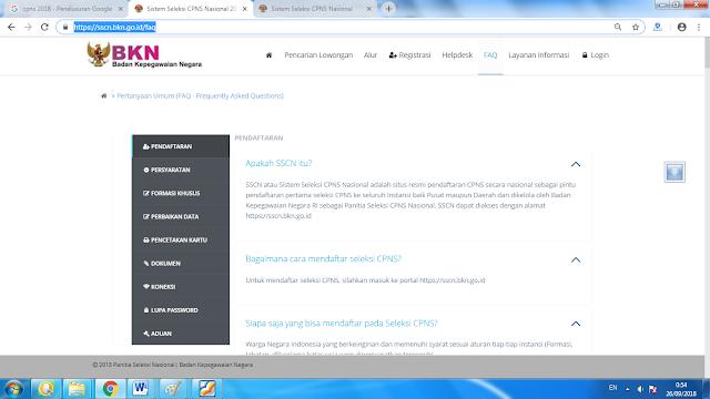 SSCN atau Sistem Seleksi CPNS Nasional ialah situs resmi registrasi CPNS secara nasiona TERLENGKAP PENDAFTARAN CPNS 2018 DI  LAMAN SSCN.BKN.GO.ID SUDAH DIBUKA
