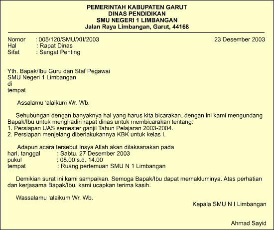 Contoh Surat Resmi Dalam Bahasa Inggris Dan Indonesia Eki Riandra