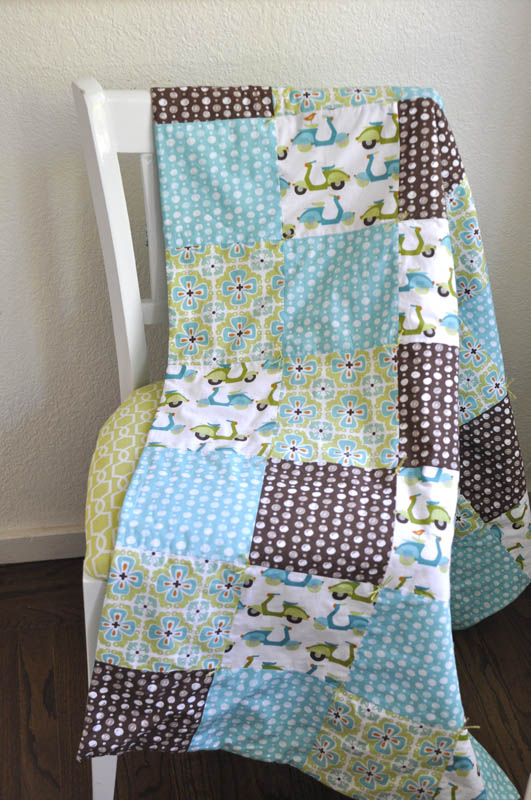 Simple baby quilt tutorial -.
