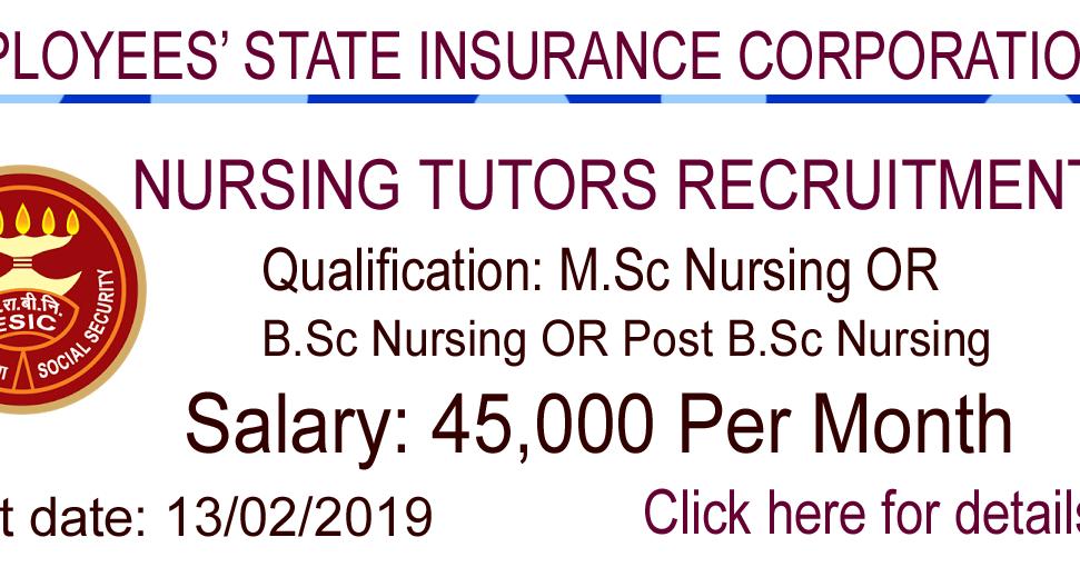 NURSING JOBS: Nursing Tutors Recruitment- 45,000 Salary