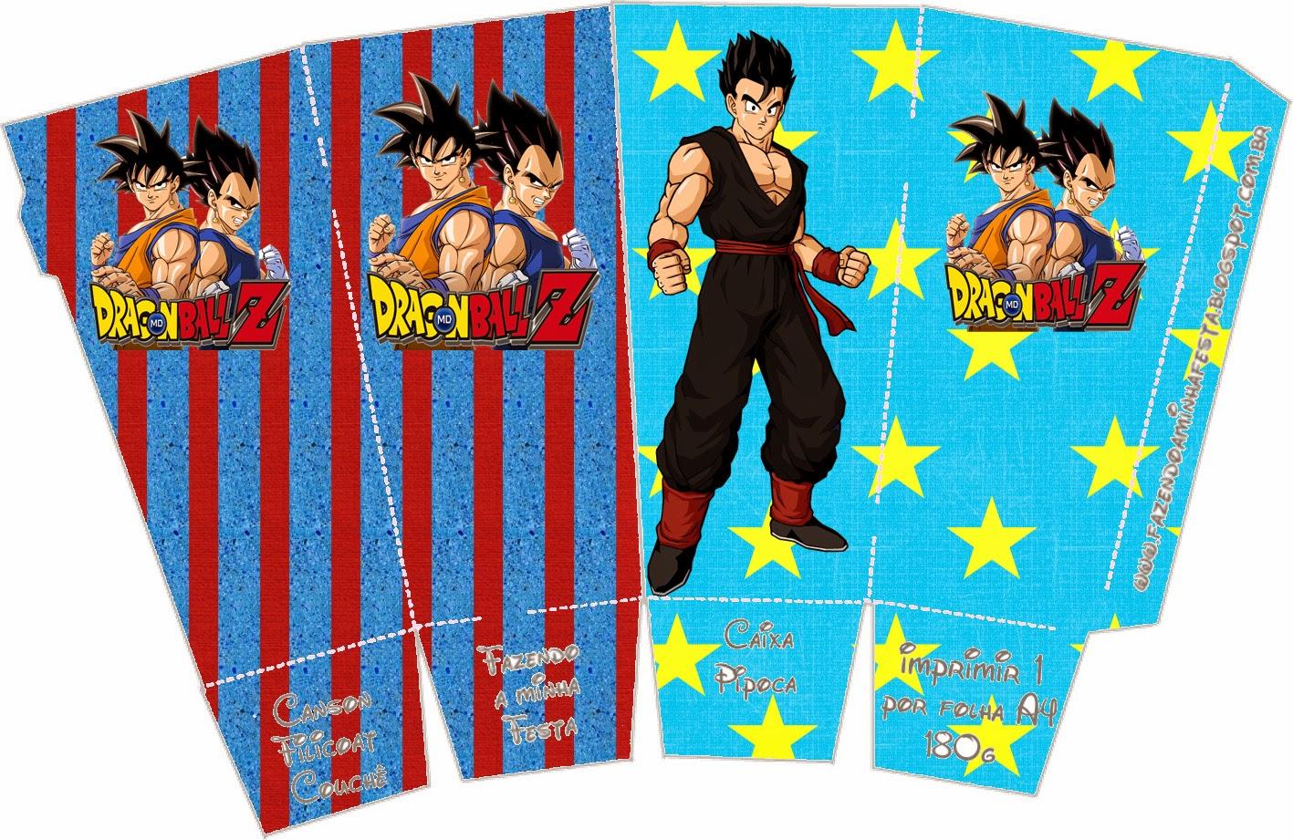 Dragon Ball Z: Cajas para Imprimir Gratis. | Oh My Fiesta! Friki