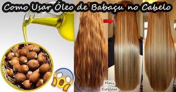 como usar óleo de babaçu no cabelo