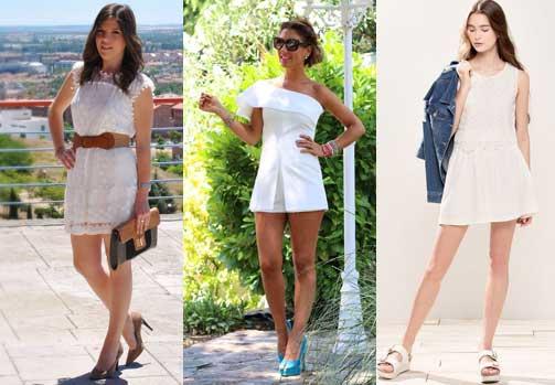 vestido blanco fashion