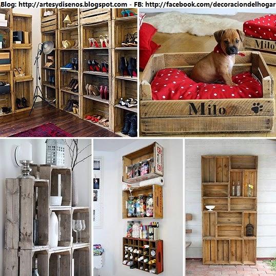 Imagenes de muebles de madera para el hogar - Decorar reciclando muebles ...