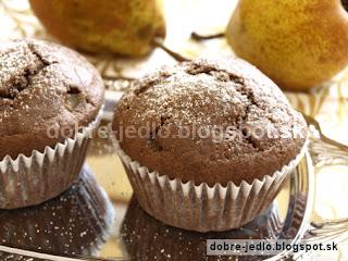 Hruškové muffiny - recepty