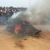 JUNGLE JUSTICE: TWO ROBBERY SUSPECTS BURNT IN GBOKO, BENUE STATE.
