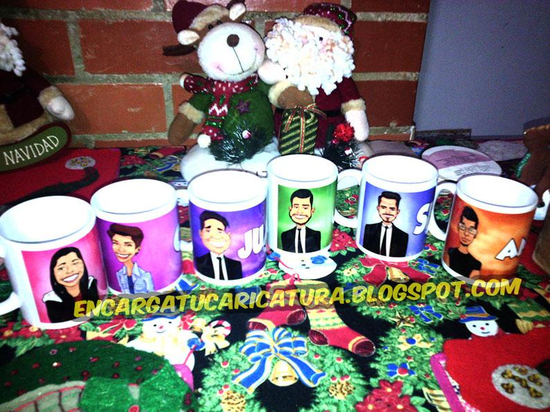 Mugs personalizados para recuerdos con sus caricaturas por TRIANA