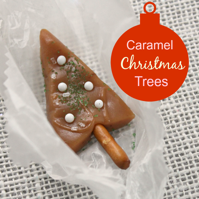 Little caramel Christmas tree candies