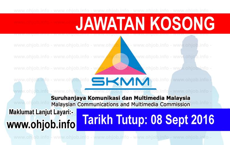 Jawatan Kerja Kosong Suruhanjaya Komunikasi Dan Multimedia Malaysia (SKMM) logo www.ohjob.info september 2016