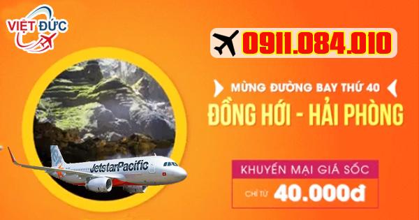 đường bay thứ 40 Đồng Hới-Hải Phòng mới thứ 40 của Jetstar