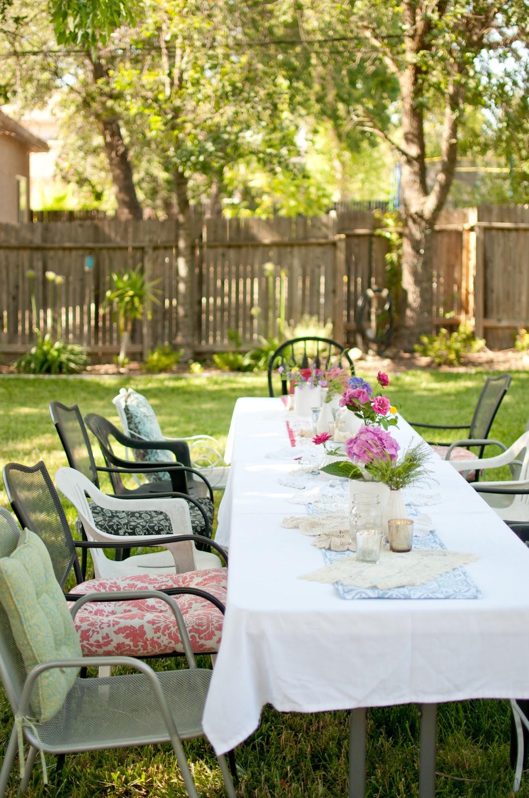 Domestic Fashionista: Summer Backyard Birthday Party